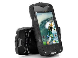 Mann A18 - 4 Inch Rugged Android Phone (Snapdragon 1.15GHz Dual Core CPU, IP68 Waterproof, Shockproof, Dustproof, Black)