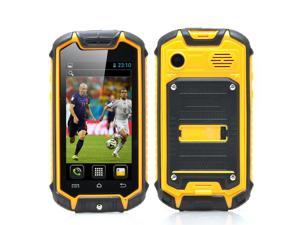 Dual SIM Mini Rugged Android Phone (2.45 Inch, Water Resistant, 2MP Rear Camera, Yellow)
