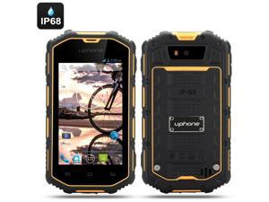 Uphone U5A 4 Inch Rugged Android Phone (Dual Core, IP68 Waterproof + Dust Proof, Shockproof, Yellow)