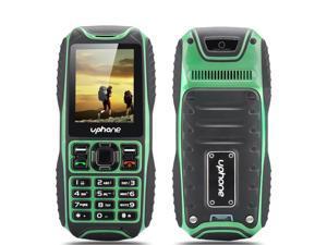 Uphone U3A Waterproof Rugged Phone (IP67, 2 Inch, Dual SIM, Rear Camera, Bluetooth, Green)