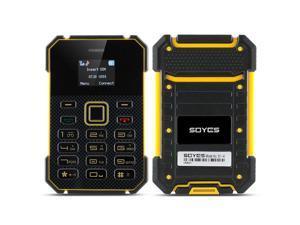 Soyes S1 Ultra Slim Bar Phone (1 Inch Screen, 1.2GHz CPU, 4GB, Yellow)