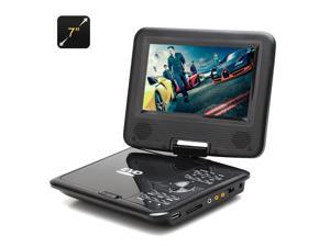 7 Inch TFT Portable DVD Player (Gaming, Copy Function, eBook, 270 Degree Rotating Screen)