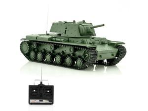 1/16 Scale Russia KV-1 Airsoft RC Tank (320 Degree Rotating Turret, Movable Barrel, Shoots 6mm BB's, Full Suspension)