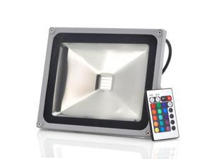Outdoor Security RGB LED Flood Light (IP65 Waterproof, Remote Control, 30W, 2700LM)