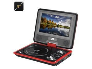 9 Inch Region Free Portable DVD Player (270 Degree Swivel Screen, 1280x800, SD Card In)