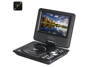 7 Inch Kids Portable DVD Player with Game Controller (Copy Function, TV, Black)