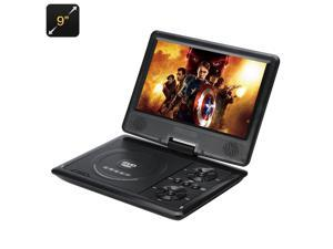 Portable DVD Player with 9 Inch 270 Degree Swivel Screen (Region Free, 16:9, 1280x800)