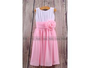 A Line Chiffon Wedding Girl Flower Girl Dress Cute Dress Cheap Party Dress Online