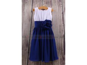 Two Tones A-Line Sleeveless Scoop Chiffon Wedding Girl Flower Girl Dress Cute Dress New