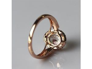 Morganite Ring 7x9 Morganite Diamonds Halo Bridal Jewelry Morganite Rings Engagement Ring in 14K Rose Gold