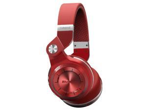 Bluedio T2+ Bluetooth 4.1 Stereo Wireless On-Ear Headphones, Built-In Microphone, Support SD Card Playback FM Radio - Red