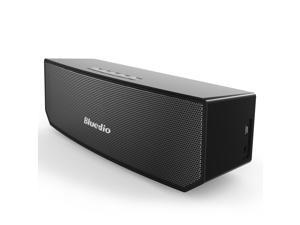 Bluedio BS-3 (Camel) Portable Bluetooth Wireless Stereo Speaker with Microphone for Calls, Innovative 3-magnet Drivers, 3D Surround System - Black