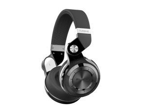 Bluedio T2+ Bluetooth 4.1 Stereo Wireless On-Ear Headphones, Built-In Microphone, Support SD Card Playback FM Radio - Black