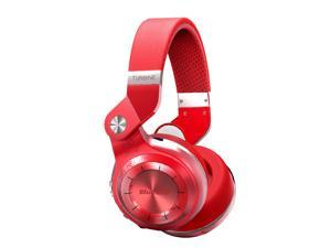 Bluedio T2S (Turbine 2 Shooting Brake) Wireless Bluetooth 4.1 Stereo On Ear Headphones - Red