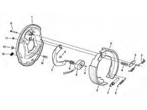 Dexter Axle Shoe/Lining Kit 5003 K71-047-00