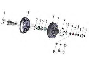 Husky 6k Inner Bearing 15245/15123 15123/245