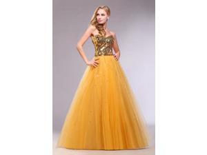 Efashion Women's Evening Dress Size 14 Color Gold