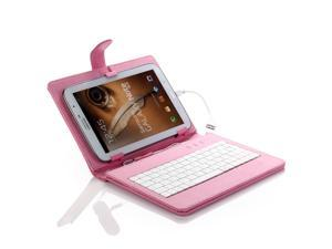 "8"" inch PU Leather Case Cover USB Keyboard for Samsung Galaxy Tablet more color to choose ship from US"