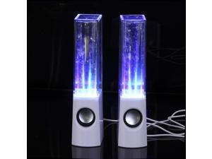 lumsing-600-16 USB LED Light Dancing Water Show Music Speaker for PC Laptop-White