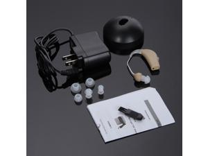Rechargeable acousticon Behind the Ear Hearing Aid Audiphone Sound Amplifier,Fast US Delivery