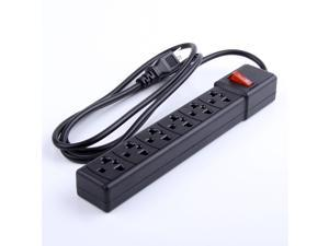 New 2500w electrical 6 outlet power strip Lightningproof surge protector