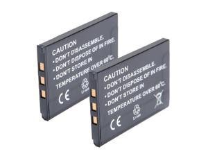 2 x 3.7V 800mAh Li-ion Battery for CASIO Exilim EX-Z60 EX-Z70 EX-Z75 EX-Z77 S770 S880