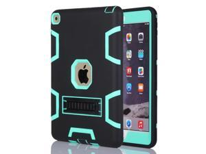 Shockproof Heavy Duty Rubber With Hard Stand Case Cover For iPad Air 2