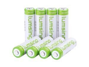8pack Lumsing AA 2850mAh Rechargeable Ni-MH Batteries+Battery holder
