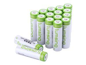 16 pack Lumsing AA 2850mAh Rechargeable Ni-MH Batteries+Battery holder