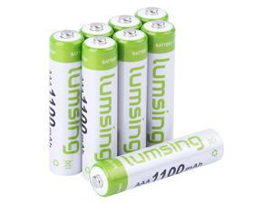 Lumsing 8 pack AAA 1100mAh Ni-MH Rechargeable Batteries +  Battery Holder