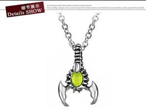 316L stainless steel stone scorpion pendant necklace