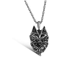 wolf shaped 316L stainless steel pendant necklace 2014