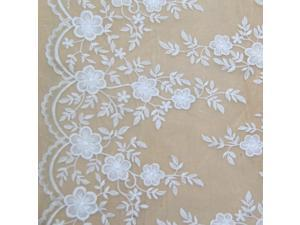 POs108 fabric for sewing organza linen textile  African lace caliper cloth Tulle sewing machine flow