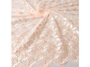 POz30 fabric for sewing organza linen textile  African lace caliper cloth Tulle sewing machine flowe