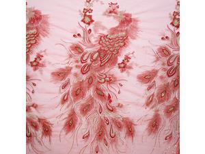 POz34 fabric for sewing organza linen textile  African lace caliper cloth Tulle sewing machine flowe