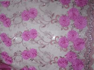 POz110 fabric for sewing organza linen textile  African lace caliper cloth Tulle sewing machine flower Christmas dress design hand work material cotton lace voile embroidery fabrics blouse wedding
