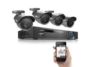 SANNCE 8CH P2P 960H Video DVR Recorder System with 4  X 800TVL Surveillance Camera iPhone & Android Network Remote Viewing- ...