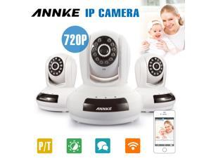 Annke SPI Simple Setup 1280 x 720P HD Wi-Fi Network IP Camera 30ft Night Vision Home Security Camera QR Code Scan Plug & Play with P 350°/T 100° Two-Ways Talk Function Baby Monitor - 3-Pack