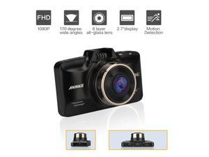 "ANNKE X9 Full-HD 1920*1080 160° Wide Angle Car Dash Cam with GPS, G-Sensor, WDR Superior Quality Night Mode, 10-Glass Lens, 2.7"" Screen and Auto turn on/off while vehicle power on/off Car Security"