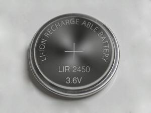 10 pcs * rechargeable LIR2450 3.6V Li-ion coin battery button battery