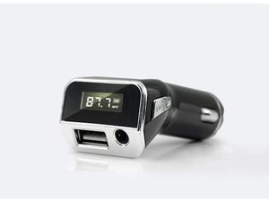 Car MP3 FM Transmitter + Car Charger + AUX Line-in to Play Cellphone Songs