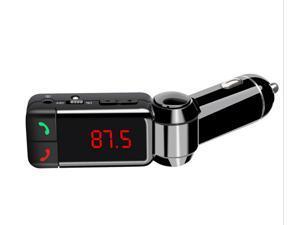 Bluetooth Car Kit Handsfree Speakerphone with AUX/Dual USB Charging Port