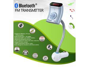 Flexible Hose Bluetooth Car Kit Handsfree Speakerphone USB/TF/Charging Function