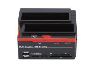 "2.5/3.5"" SATA IDE HDD Docking Station USB 2.0 Hub MS/M2/XD/CF/TF Card Reader"