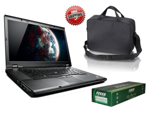 "Lenovo 2429A11 Thinkpad T530 15.6"" HD (1366x768) i5 3320M (2.60GHz) 4GB 320GB HDD DVD Win 7 Pro 64 Bit W/ Case and Extra New Poder Adapter"