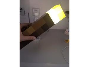 Minecraft Torch Light Up LED Wall Torch toys Handheld LED Tourch Light