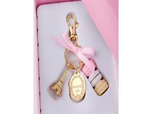 Cake Macarons fashion France Laduree Effiel Tower metal alloy keychain Best Gift Christmas Saint Valentine mother's Day wedding birthday gifts