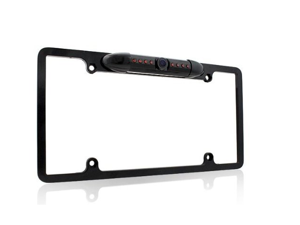 [2014 Latest] Esky® EC170-09 Waterproof High Sensitive Color CMOS Chrome Aluminum Alloy Universal Car License Plate Frame Mount Rear View Backup Camera with 170 Degree Viewing Angle and 8 IR LED Night