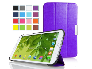 """Amazon Kindle Paperwhite Case - Ultra Slim Lightweight Smart-shell Stand Case for Amazon All-New Kindle Paperwhite (Both 2012 and 2013 versions with 6"""" Display and Built-in Light), Crazy Horse PURPLE"""