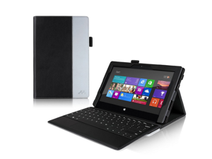 Manvex Leather Case for the Microsoft Surface PRO Tablet **NOW COMPATIBLE with the SURFACE PRO 2 / ALSO WORKS with both Microsoft Keyboards!** | Built-in Stand with Multiple Viewing Angles with Stylus